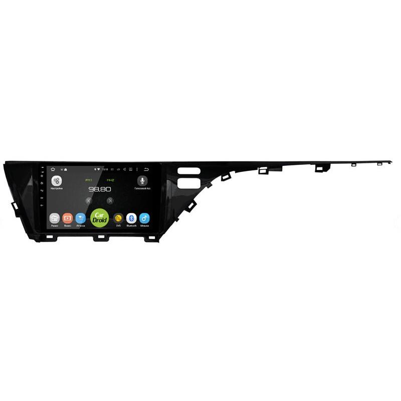 Штатная магнитола CarDroid RD-1129F для Toyota Camry v70 (Android 9.0) Low DSP (+ Камера заднего вида в подарок!)