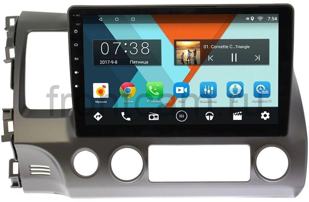 Штатная магнитола Honda Civic 8 (VIII) 4D 2005-2011 Wide Media MT1013MF-2/16 на Android 7.1.1 (+ Камера заднего вида в подарок!)