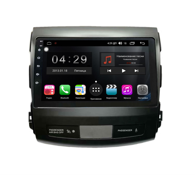 Штатная магнитола FarCar s300-SIM 4G для Mitsubishi Outlander XL,Citroen C-Crosser, Peugeot 4007 на Android (RG056R) (+ Камера заднего вида в подарок!)