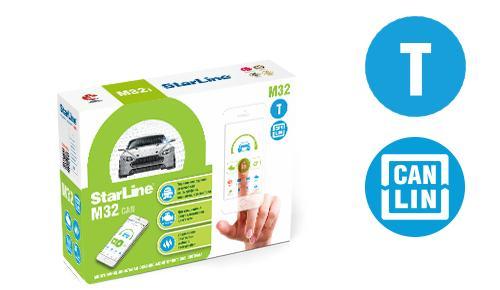 Охранно-мониторинговая система StarLine М32 T CAN+LINStarLine<br>Умная многофункциональная GSM, GPS-ГЛОНАСС охранно-мониторинговая система StarLine М32T CAN+LIN T гарантирует надежную защиту вашего автомобиля.<br>
