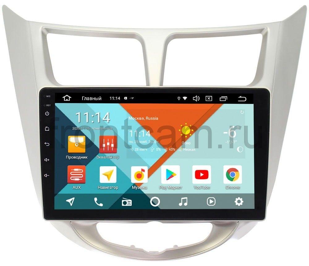 Штатная магнитола Wide Media KS9027QR-3/32 DSP CarPlay 4G-SIM для Hyundai Solaris I 2011-2017 на Android 10 (+ Камера заднего вида в подарок!)