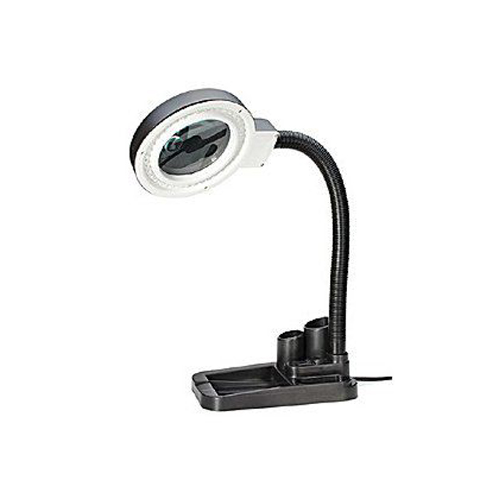 Лупа-лампа Kromatech бестеневая 2/20x, 85 мм, с подставкой для ручек и подсветкой (40 LED) лупа kromatech 8х 23149b182