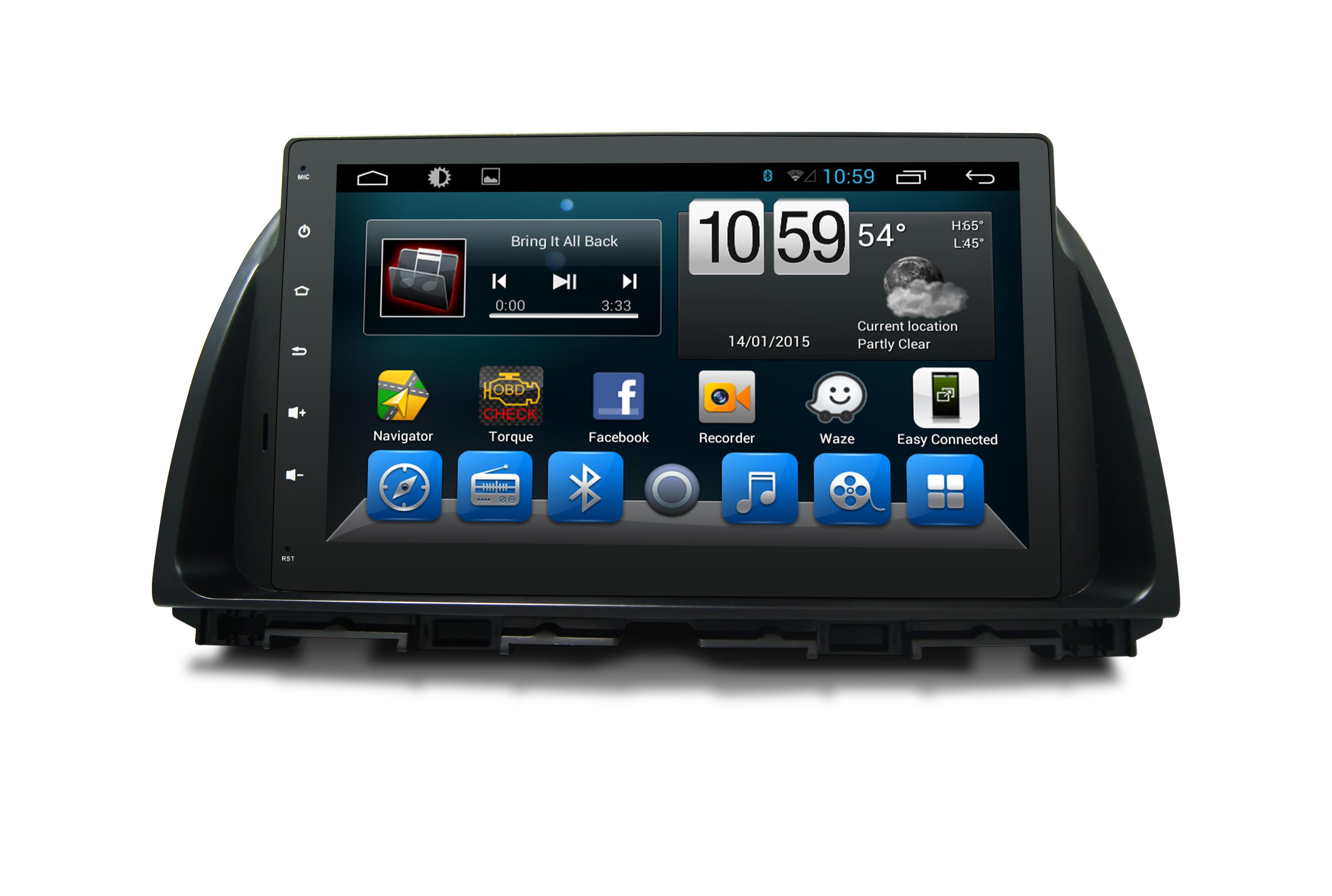 Штатная магнитола CARMEDIA QR-1045-T8 Mazda CX-5 2011-2016 с поддержкой всех штатных функций (1 поколение KE дорестайл) на OC Android 7.1.2 / 8.1 k1 android 5 1 os smart watch phone mtk6580 512mb 8gb support wifi sim card bluetooth gps smartwatch for ios android os