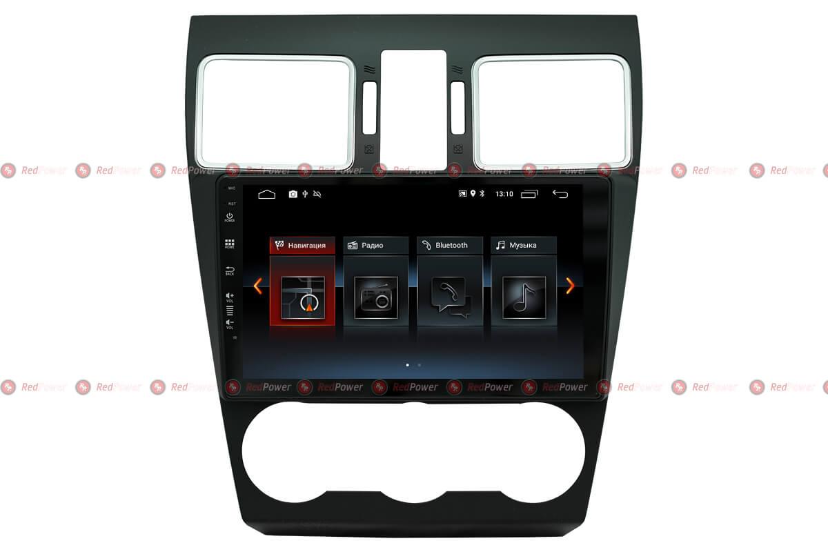 Автомагнитола Redpower 30262 IPS Subaru Forester/XV (2015-2018) Android 8.1 (+ Камера заднего вида в подарок!)