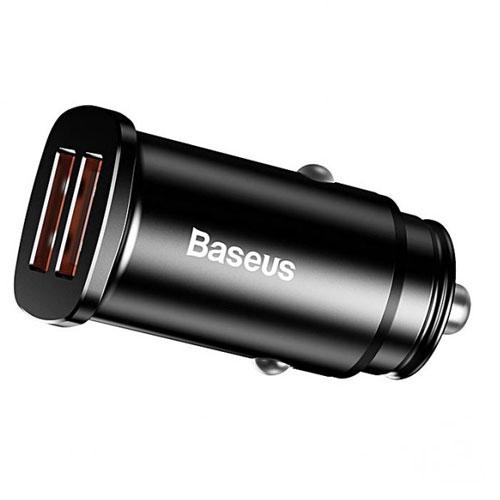 Автомобильное зарядное устройство Baseus Circular Plastic A+A 30W Dual QC3.0 Quick Car Charger Black (CCALL-YD01)