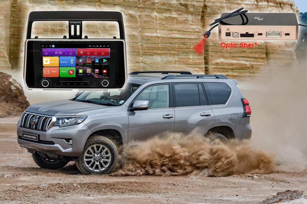 Магнитола для Toyota Land Cruiser Prado 150 RedPower K 51365 R IPS DSP ANDROID 8+ (+ Камера заднего вида в подарок!)
