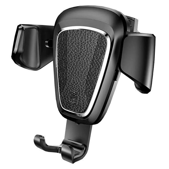 Автомобильный держатель для телефона в дефлектор Baseus Gravity - Черный (SUYL-B01) автомобильный держатель для телефона на торпеду baseus mouth car mount черный sudz 01
