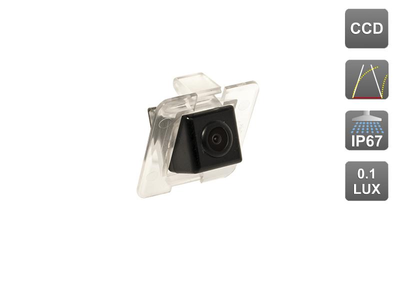 CCD штатная камера заднего вида с динамической разметкой AVIS Electronics AVS326CPR (#051) для MERCEDES GLK X204 (2008-...)
