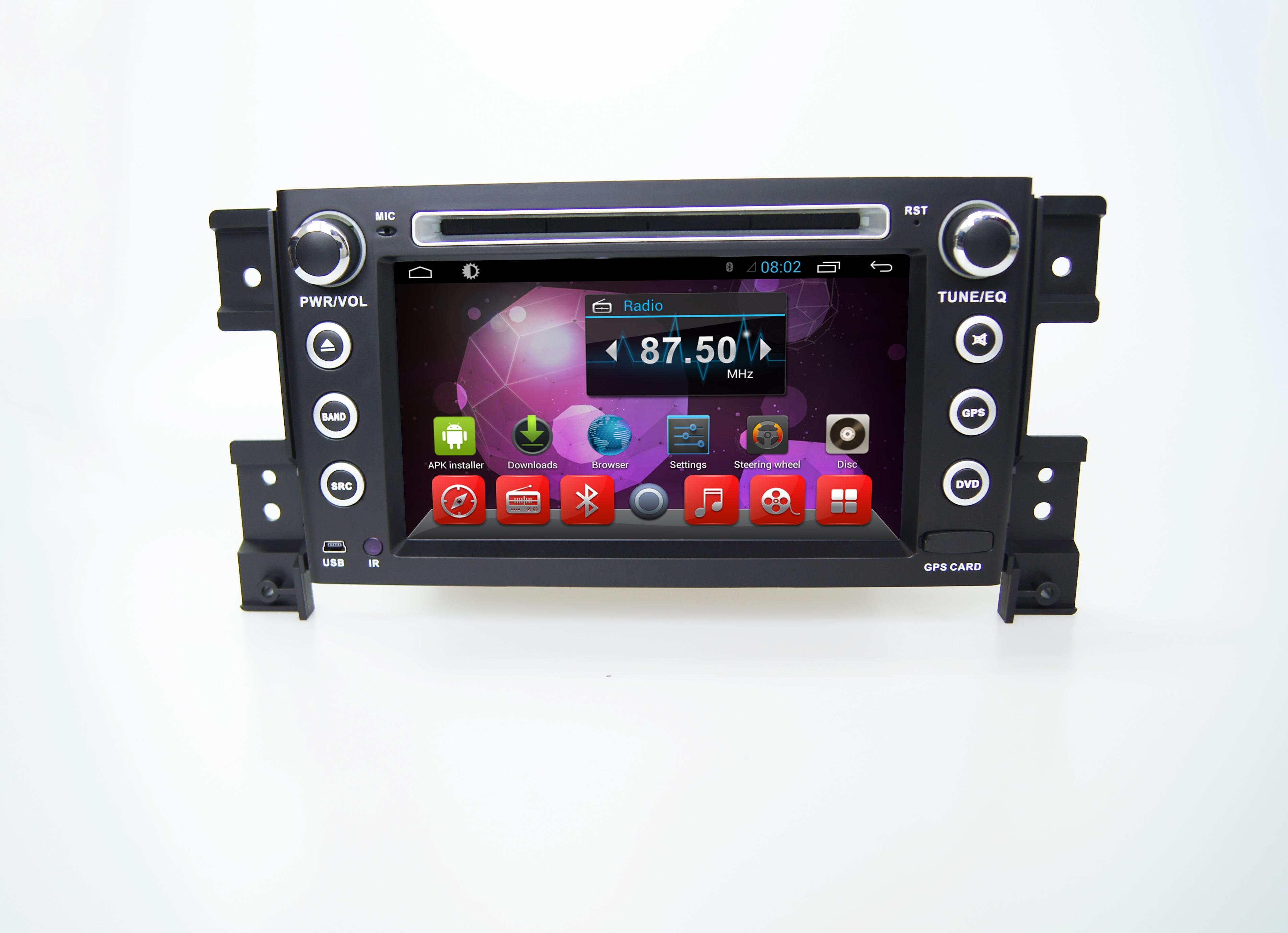 Штатная магнитола для Suzuki Grand Vitara III 2005-2015 CARMEDIA KR-7063-T8 на Android 7.1 (+ камера заднего вида) штатная магнитола carmedia kr 7093 t8 для hyundai ix35 2010 2015 android 7 1 2 камера заднего вида