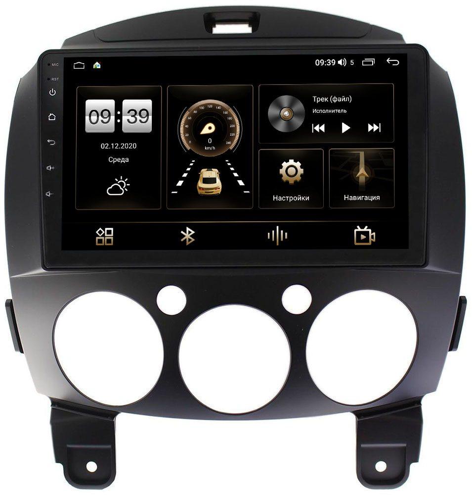 Штатная магнитола Mazda 2 II 2007-2014 LeTrun 4196-9031 на Android 10 (6/128, DSP, QLed) С оптическим выходом (+ Камера заднего вида в подарок!)