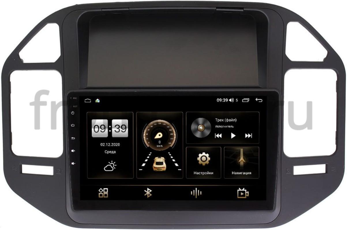 Штатная магнитола LeTrun 4166-9-266 для Mitsubishi Pajero III 1999-2006 на Android 10 (4G-SIM, 3/32, DSP, QLed) (+ Камера заднего вида в подарок!)
