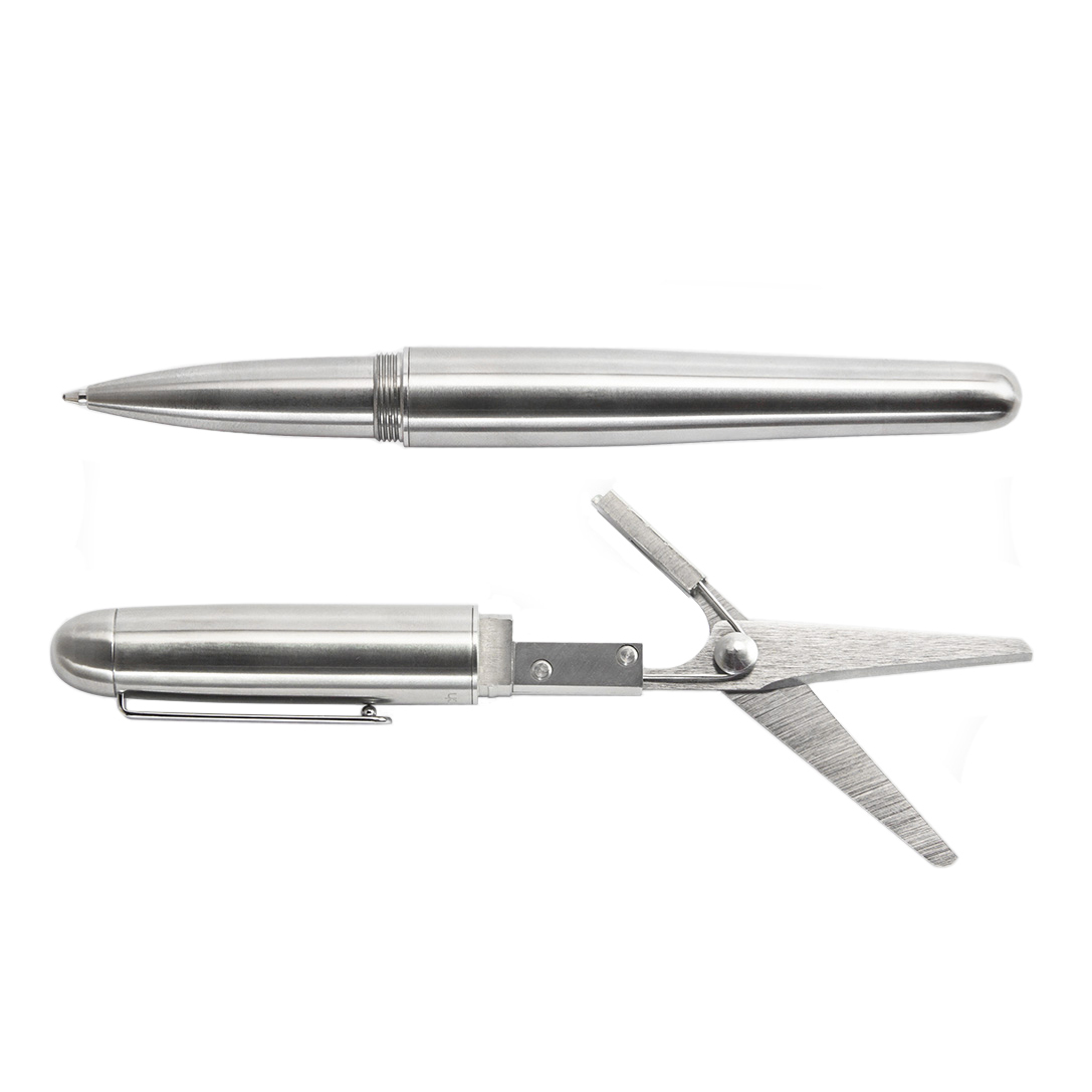 Мультитул Mininch Xcissor Pen Серебристый (полная версия) (+ Автомобильные коврики для впитывания влаги в подарок!)
