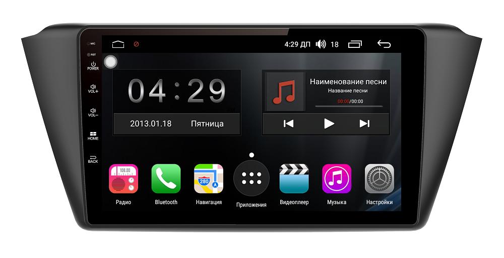 Штатная магнитола FarCar s300 для Skoda Fabia 2015+ на Android (RL2002R) автокомплект bluetooth tamehome 2015 bluetooth hd lcd dtmf