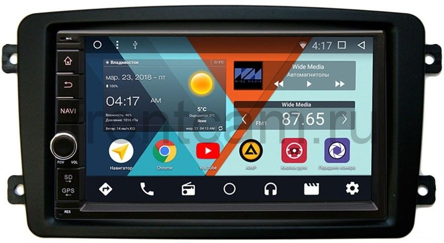 Штатная магнитола Wide Media WM-VS7A706-OC-2/32-RP-MRCB-51 для Mercedes C-klasse (W203), CLK-klasse (W209), Vito, Viano, G-klasse (W463) Android 8.0