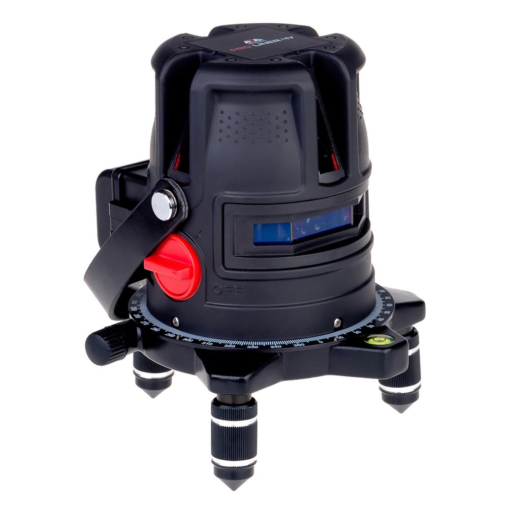 Лазерный уровень ADA PROLiner 4V (лазерный уровень, лазерные очки, магнитная мишень, винт-удлинитель 5/8'', батареи тип АА 1,5 V (4 шт.), держатель для батарей (адаптер), пластиковый кейс, инструкция)