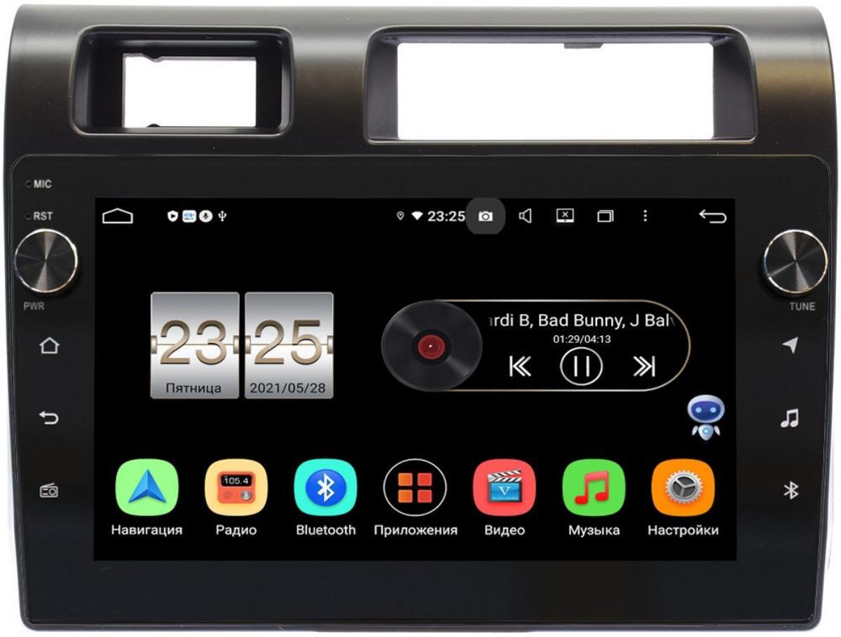 Штатная магнитола LeTrun BPX609-9286 для Toyota Land Cruiser 70 2007-2021 на Android 10 (4/64, DSP, IPS, с голосовым ассистентом, с крутилками) (+ Камера заднего вида в подарок!)