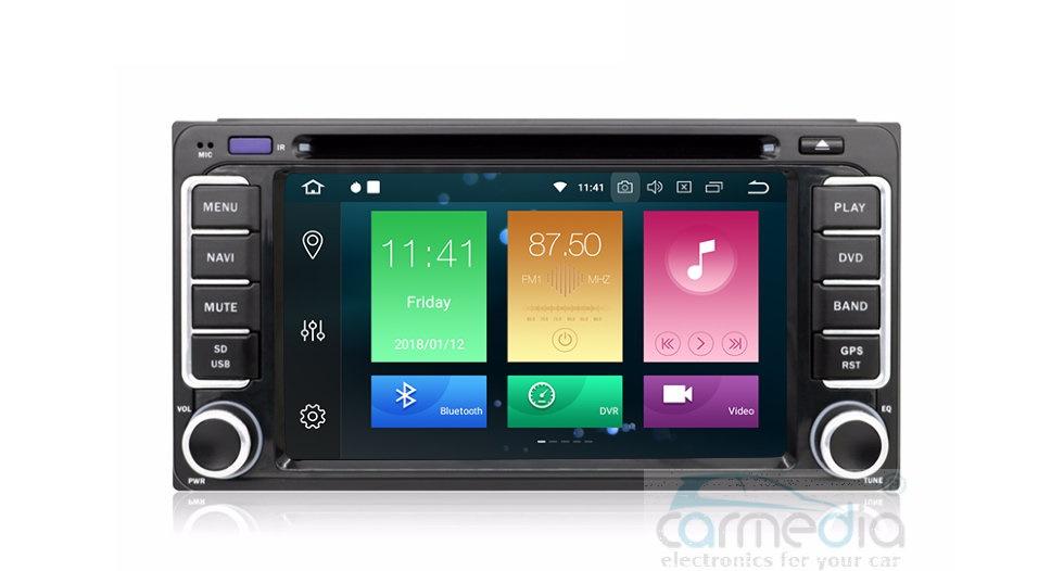 Штатная магнитола CARMEDIA MKD-T610-P30-8 Toyota (по списку) Android 9.0 (+ камера заднего вида) штатная магнитола carmedia mkd 1071 dvd toyota camry 11 2014 v55