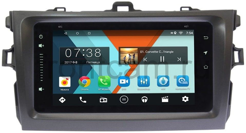 Штатная магнитола Toyota Corolla X 2006-2013 Wide Media MT6901-RP-TYCV14XW-05 на Android 7.1.1 (+ Камера заднего вида в подарок!)