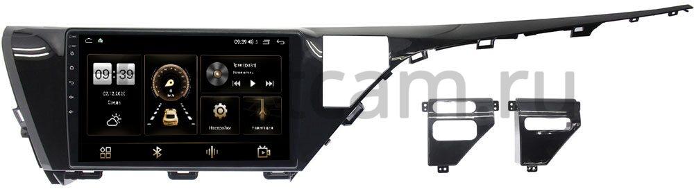 Штатная магнитола LeTrun 3799-1050 для Toyota Camry V70 2018-2021 на Android 10 (4/64, DSP, QLed) С оптическим выходом (для авто с камерой) (+ Камера заднего вида в подарок!)