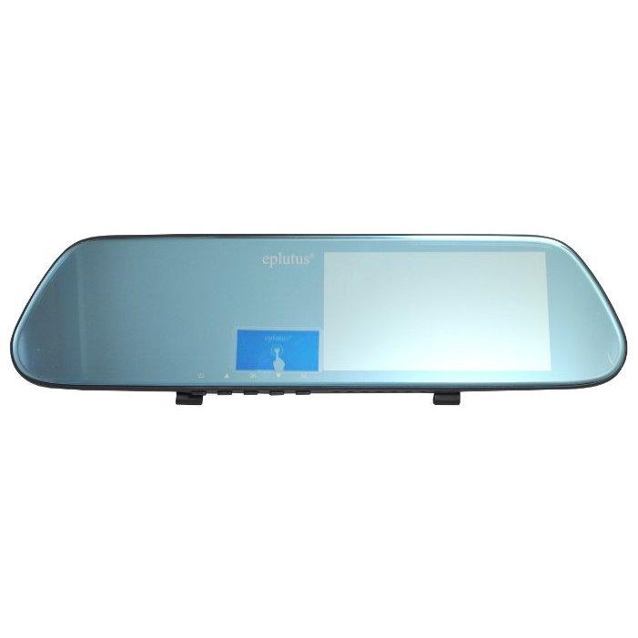 Видеорегистратор-зеркало с 2-я камерами Eplutus D08 (+ Разветвитель в подарок!) видеорегистратор eplutus gr 92p с антирадаром и gps разветвитель в подарок