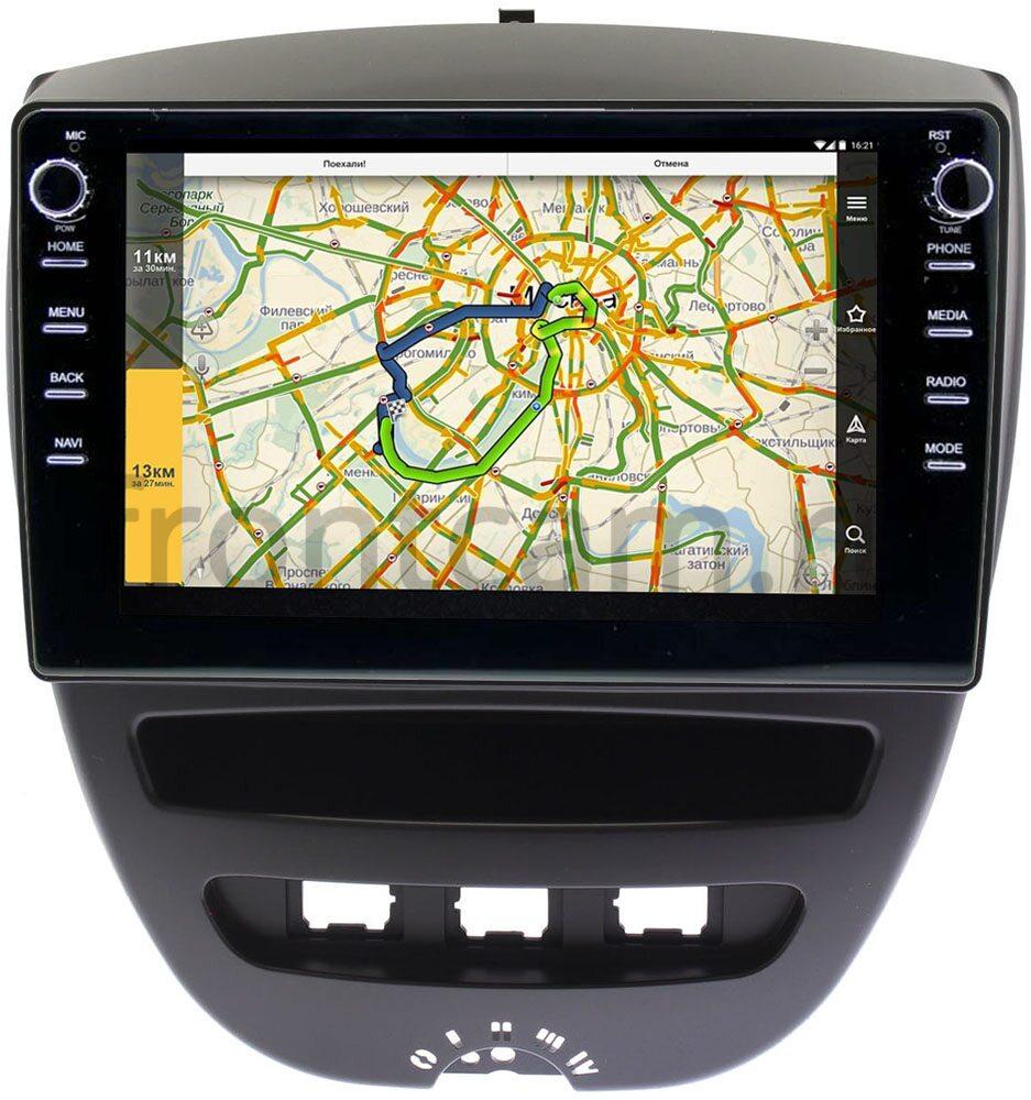 Штатная магнитола Peugeot 107 I 2005-2014 LeTrun 3149-10-1152 на Android 10 (DSP 2/16 с крутилками) (+ Камера заднего вида в подарок!)