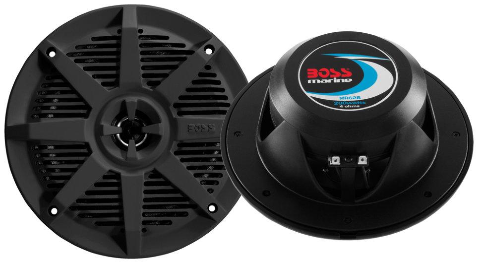 Влагозащищенные динамики BOSS Audio Marine MR62B (6.5, 200 Вт.) черный