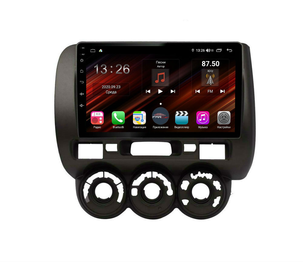 Штатная магнитола FarCar s400 Super HD для Honda Fit на Android (XH1233R) (+ Камера заднего вида в подарок!)