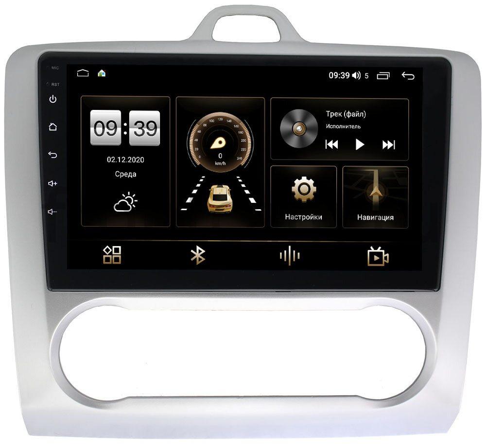 Штатная магнитола LeTrun 4196-9060 для Ford Focus 2005-2011 с климатом на Android 10 (6/128, DSP, QLed) С оптическим выходом (+ Камера заднего вида в подарок!)