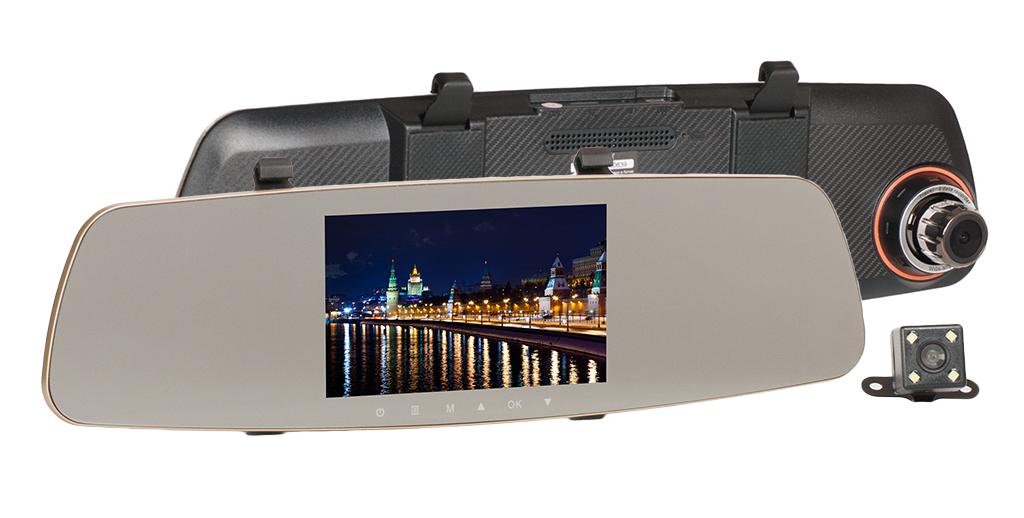 Зеркало-видеорегистратор Recxon IQ-5 NEW (+ Разветвитель в подарок!) зеркало заднего вида recxon autosmart gps глонасс android разветвитель в подарок