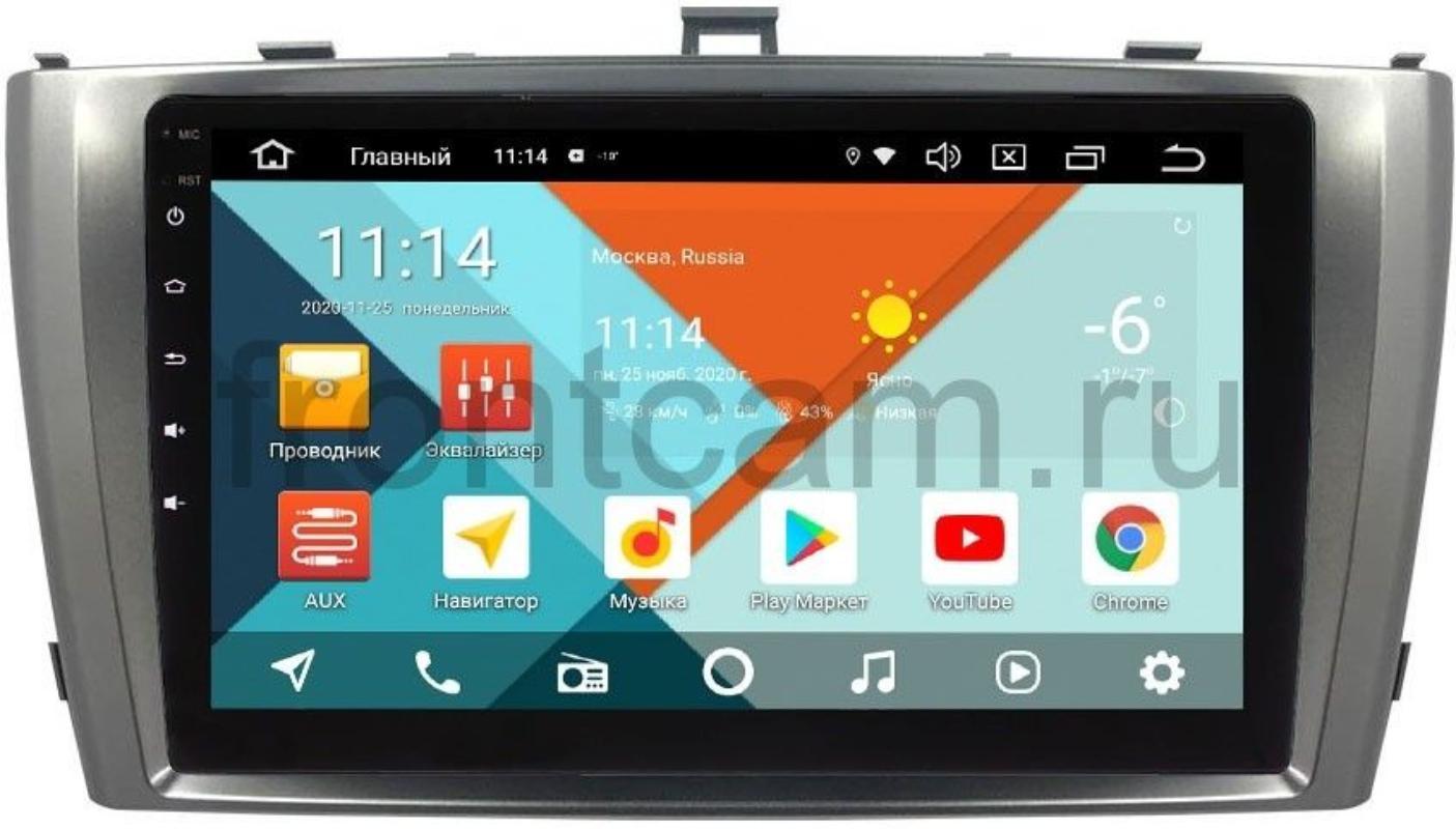 Штатная магнитола Wide Media KS3017QR-3/32 DSP CarPlay 4G-SIM для Toyota Avensis III 2009-2015 (серебро) на Android 10 (+ Камера заднего вида в подарок!)