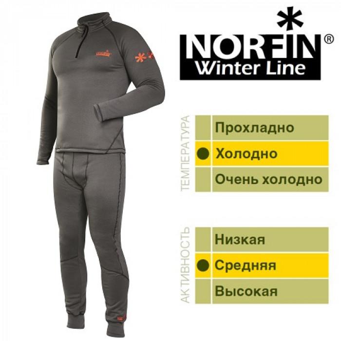 Термобелье Norfin WINTER LINE GRAY 04 р.XL мужское нижнее белье