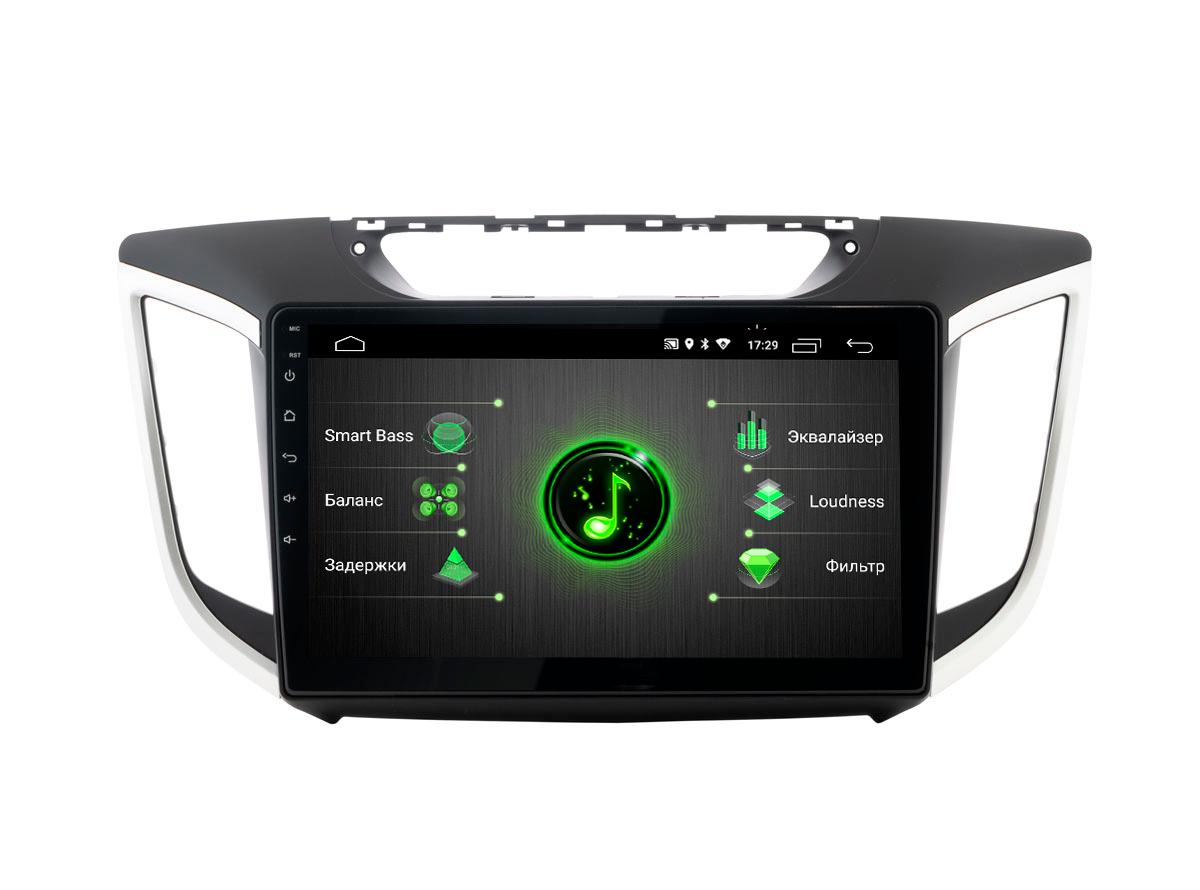 Штатная магнитола Incar Incar DTA-2410 для Hyundai Creta 16+ Android 9.0 с процессором DSP (+ Камера заднего вида в подарок!)