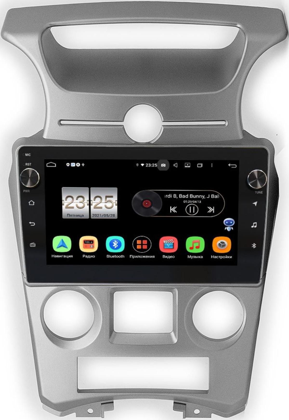 Штатная магнитола Kia Carens II 2006-2012 (с климат-контролем) LeTrun BPX609-1053 на Android 10 (4/64, DSP, IPS, с голосовым ассистентом, с крутилками) (+ Камера заднего вида в подарок!)