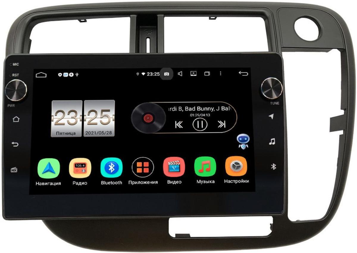 Штатная магнитола Honda Civic 7 (VII) 2000-2005 (без климата) LeTrun BPX609-226 на Android 10 (4/64, DSP, IPS, с голосовым ассистентом, с крутилками) (правый руль) (+ Камера заднего вида в подарок!)