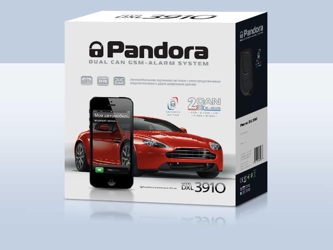 Автосигнализация Pandora DXL 3910PRO 2xCAN+GSM+LIN+Slave автосигнализация zont ztc 710 slave