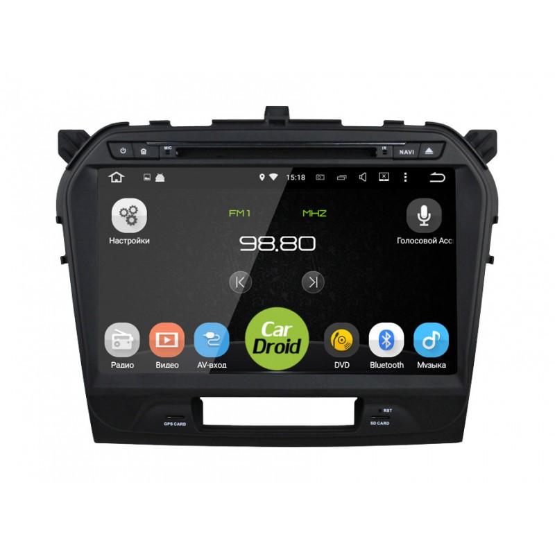 Штатная магнитола CarDroid RD-3504-1gb для Suzuki Vitara 2 2015 (Android 5.1.1) (+ Камера заднего вида в подарок!)