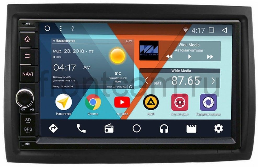 Штатная магнитола Wide Media WM-VS7A706-OC-2/32-RP-11-354-70 для Fiat Ducato III 2006-2013, Ducato IV 2013-2018 Android 8.0 штатная магнитола wide media wm vs7a706 oc 2 32 rp 11 354 70 для fiat ducato iii 2006 2013 ducato iv 2013 2018 android 8 0