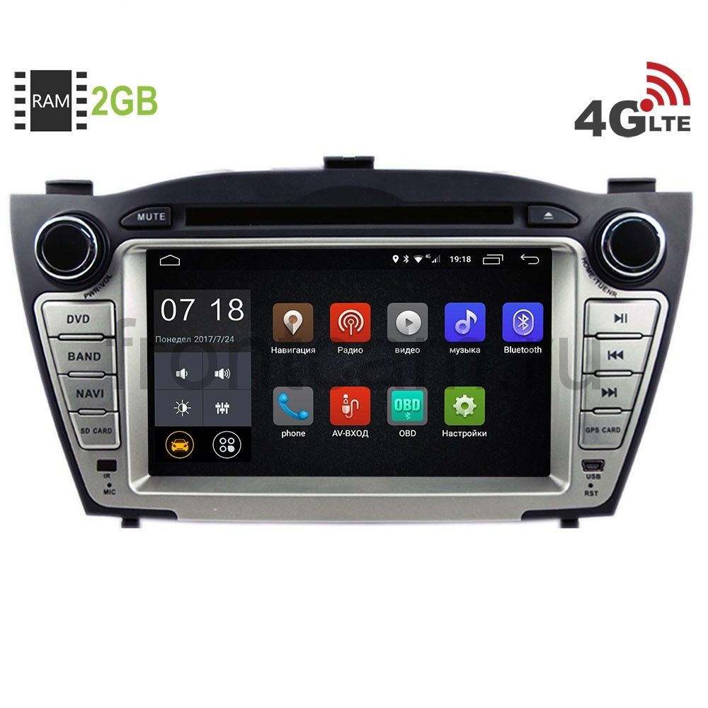 Штатная магнитола LeTrun 1476 для Hyundai IX35 Android 6.0.1 7060b 7 inch 12v auto 2 din bluetooth tft screen car audio stereo mp3 mp4 mp5 player support aux fm usb sd mmc