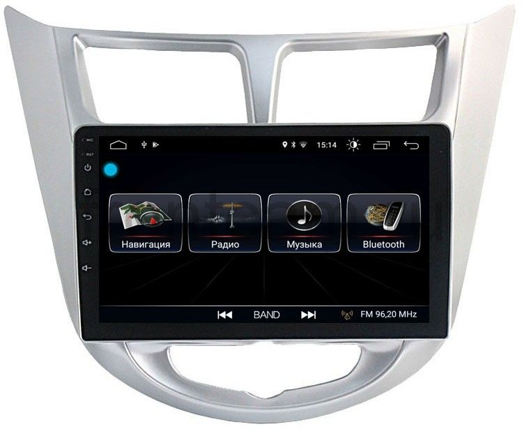 Штатная магнитола LeTrun 1915 для Hyundai Solaris I 2011-2017 на Android 8.0.1 MTK-L 1Gb 64664