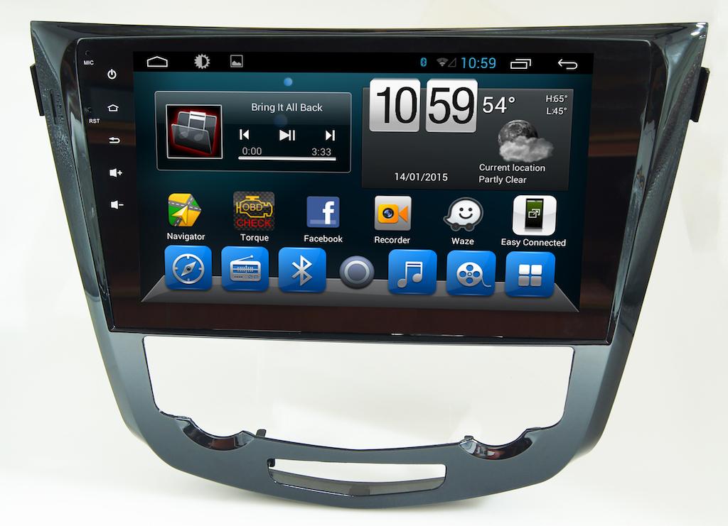 Штатная магнитола CARMEDIA KR-1030-T8 для NISSAN Qashqai II 2014+, X-Trail 2015+ (T32) на Android 8.1 k1 android 5 1 os smart watch phone mtk6580 512mb 8gb support wifi sim card bluetooth gps smartwatch for ios android os