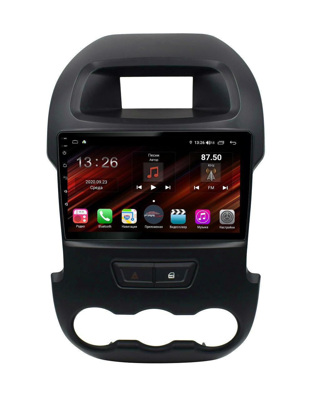 Штатная магнитола FarCar s400 Super HD для Ford Ranger на Android (XH245R) (+ Камера заднего вида в подарок!)
