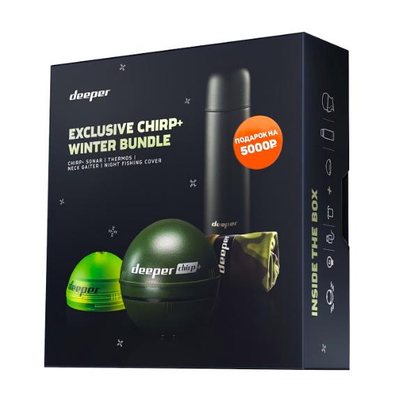 Эхолот Deeper Smart Sonar CHIRP+ c подарком на 5000 рублей (+ Леска в подарок!) все цены