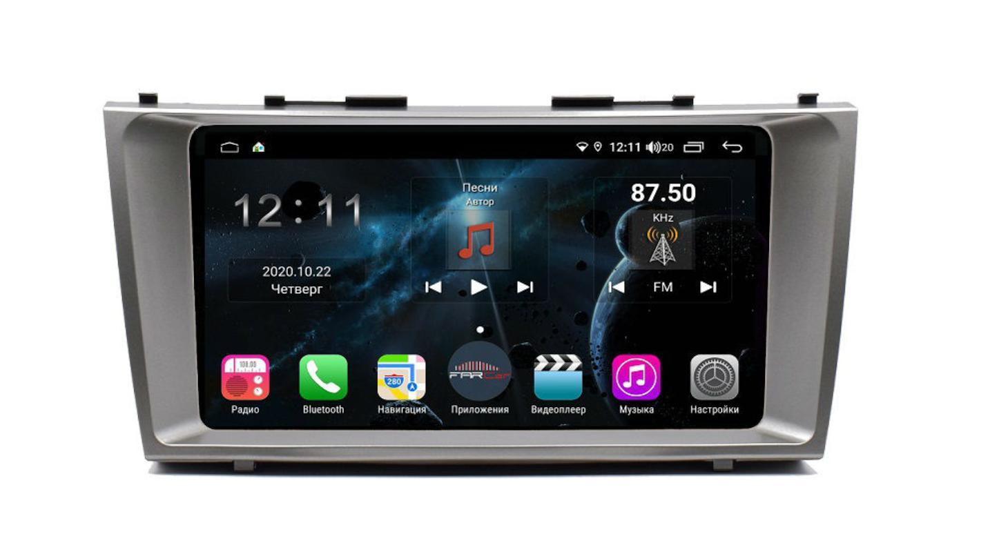 Штатная магнитола FarCar s400 для Toyota Camry на Android (TG1171R) (+ Камера заднего вида в подарок!)