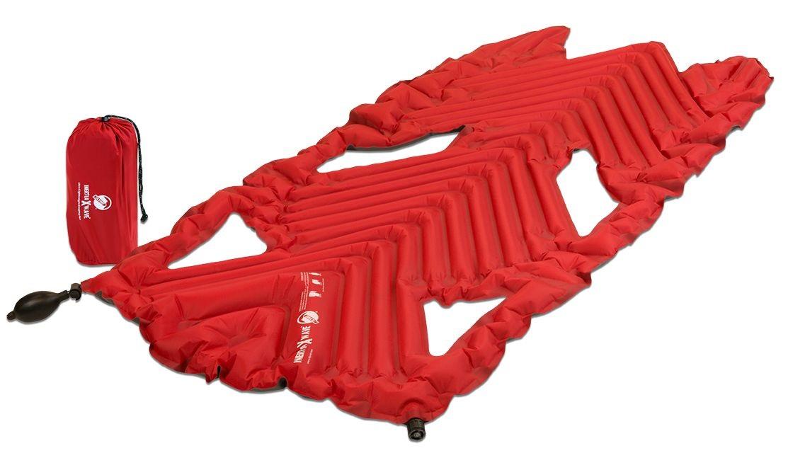 Надувной коврик Klymit Inertia X Wave pad Red, красный (06XWRd01A)