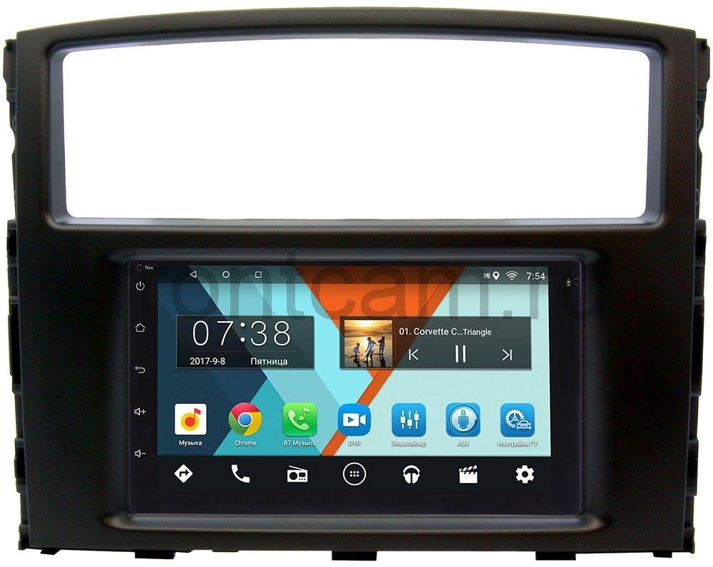 Штатная магнитола Mitsubishi Pajero IV 2006-2018 Wide Media MT7001-RP-MMPJ7Xc-24 на Android 7.1.1