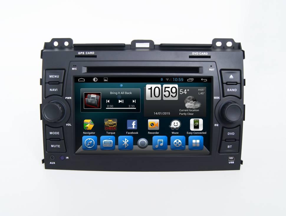 Штатная магнитола CARMEDIA KR-7095-T8 для Toyota Land Cruiser Prado 120 2002-2009 на Android 8.1 штатная магнитола carmedia u9 6021 t8 toyota land cruiser prado 150 2017 на android 7 1
