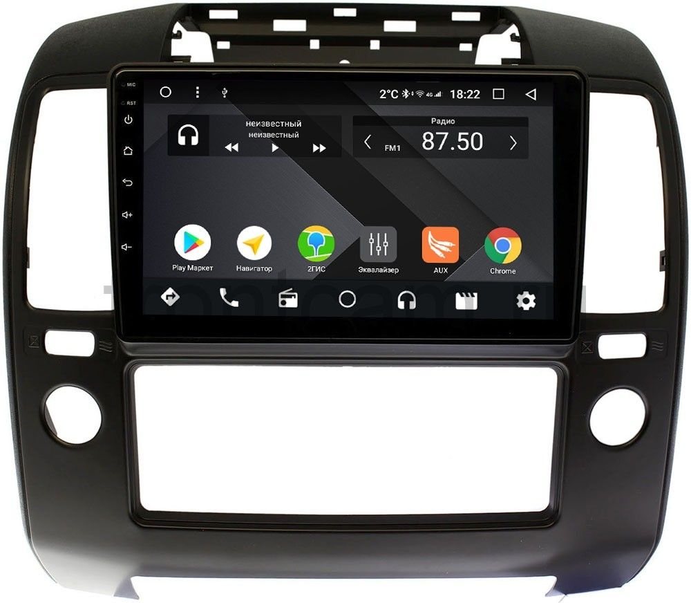 Штатная магнитола Wide Media CF10-1103PM-4/64 для Nissan Navara (Frontier) III (D40) 2005-2010 на Android 9.1 (TS9, DSP, 4G SIM, 4/64GB) (+ Камера заднего вида в подарок!)