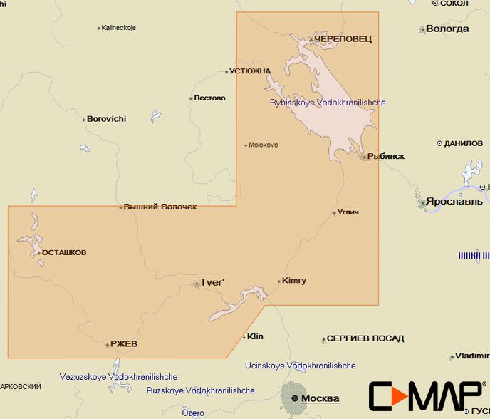 Карта C-MAP RS-N212 - Тверь – Рыбинск