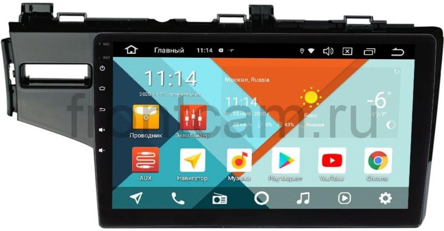 Штатная магнитола Honda Fit III, Jazz III 2015-2017 Wide Media KS10-468QM-2/32 DSP CarPlay 4G-SIM на Android 10 (+ Камера заднего вида в подарок!)