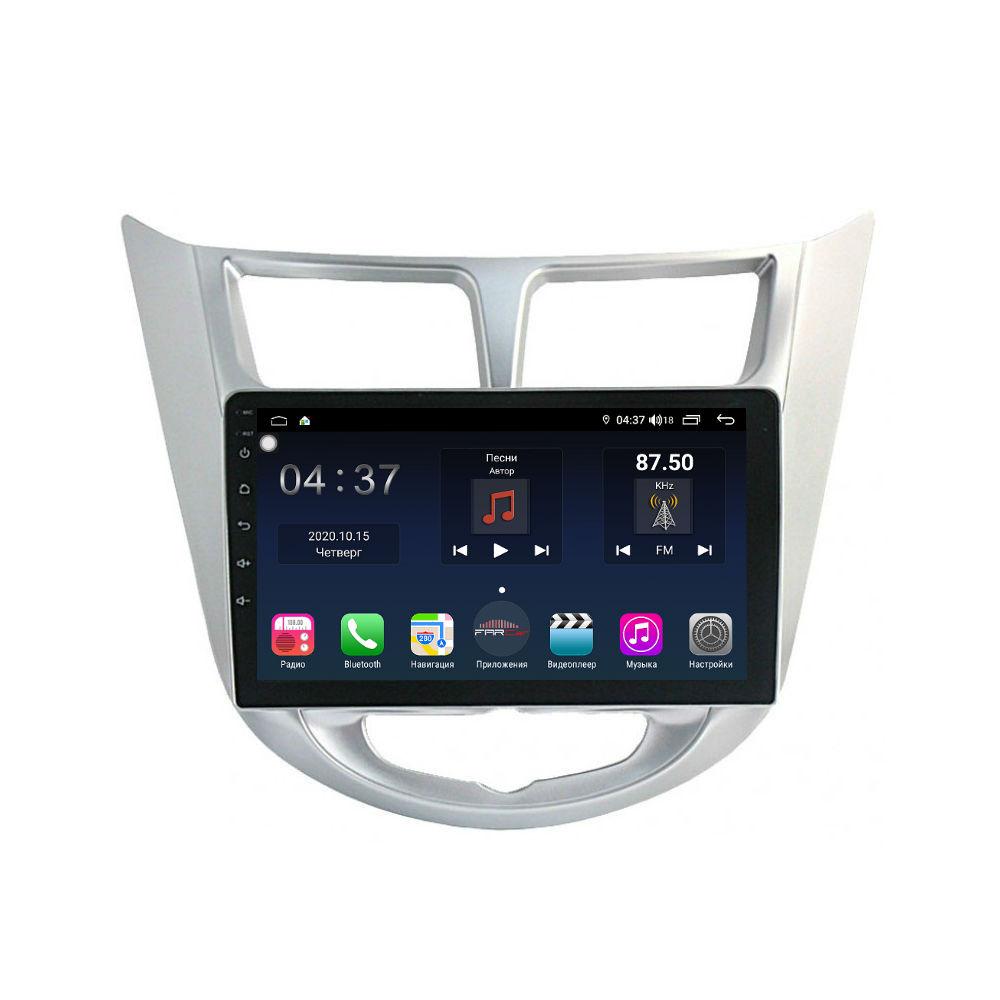 Штатная магнитола FarCar s400 для Hyundai Solaris на Android (TG067R) (+ Камера заднего вида в подарок!)